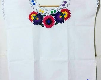LARGE! Mexican blouse handmade embroidered