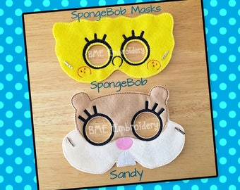 SpongeBob Inspired Felt Mask- Sandy Mask-Child's Dress Up and Imaginary Play- Birthday Party Favor-Photo Shoot-Pretend Play-Theme Party