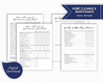 Home Cleaning and Maintenance Schedule - Daily, Weekly, Monthly, Quarterly, Semi-Annually, Annually