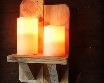 Rustic Handmade Candle Holders