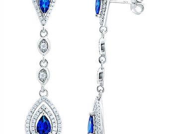 Silver Earrings With Micro Set Cubic Zirconia (ez817b)