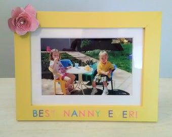 Best Nanny Ever summer picture frame