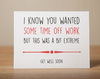 Greeting Card - Get Well Soon, Funny