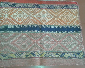 Peruvian vintage alter cloth, handwoven Andean textile, Mesa cloth