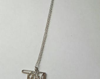 Oklahoma jumble letter necklace