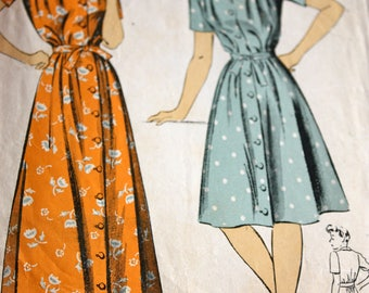Rare 1940's DuBarry Dress or House Coat Pattern---Size 16 Bust 34