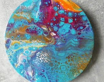 Abstract Acrylic Pour