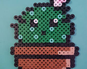 Cactus with Flower Perler Bead Sprite