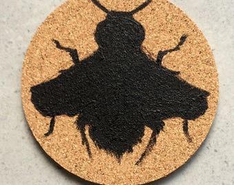 Bee Cork Coaster