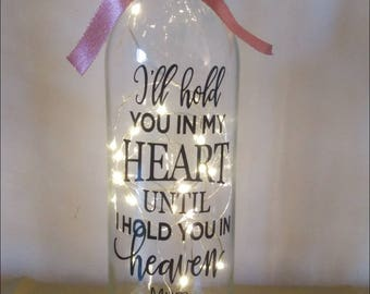 I Ll Hold You In My Heart Glass Ornament