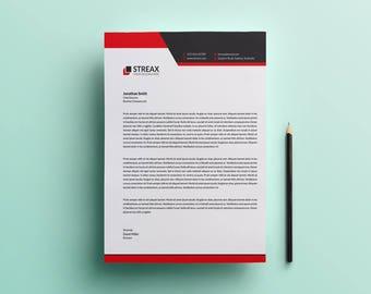 Letterhead Template | Business Letterhead | Printable Letterhead | Instant  Download Letterhead