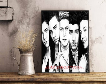 One Direction poster, One Direction, Rock, Wall art, Pop, harry styles, louis tomlinson, liam payne, niall horan, print, gift, Music poster