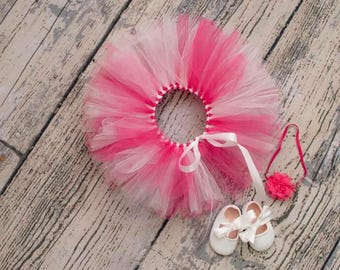 Pink and White tutu