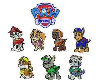 Paw Patrol Embroidery Design Pack, Chase Embroidery Design, Marshall Embroidery Design, Girl embroidery design, Boy embroidery design