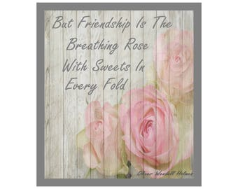 Friendship Instant Printable Quote, Oliver Wendell Holmes Sr.,Home Decor, Art, Gift