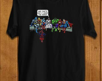 And That's How I Saved The World Jesus Superheros Christian T-Shirt