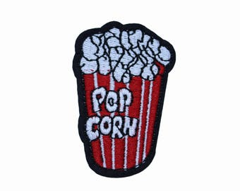 "Popcorn Iron on Patch, Patches,1.6"" × 2.4"" ( 4 × 6 cm )"