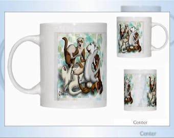 Ferrets Dooking Frolicking Mug