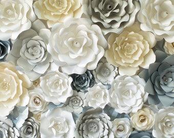 Paper flower backdrop ( mix flowers).