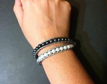 Double wrap ladder bracelet