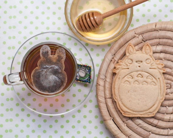 6 pc. Tea bags Totoro. Tea as a gift.
