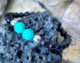 Planet Jupiter Turquoise Bracelet