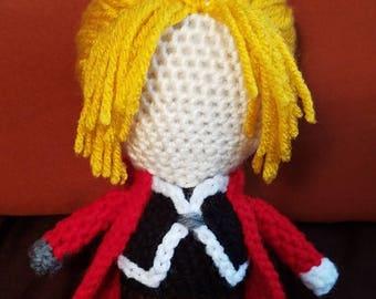 Full Metal Alchemist Inspired Amigurumi Edward Elric Plush Doll- MADE TO ORDER