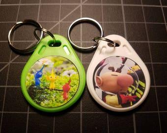 Hey Pikmin! Full Set Amiibo NFC WATERPROOF Keychain Card Tags 3DS Switch Wii U Olimar Pikmin Zelda Breath of the Wild