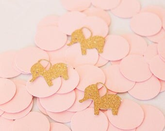 BABY SHOWER CONFETTI | Elephant Confetti | Baby Shower Decorations | Birthday Confetti | Elephant Baby Shower | Elephant Birthday | Confetti