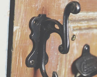 Cast Iron Coat Hook with Decorative Scroll Design 100mm