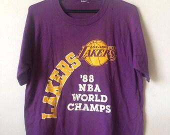 Vintage 80's Los Angeles Lakers 50/50 Tshirt