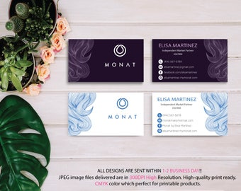 Monat Business Card Custom, Custom Monat Business Card, Fast Free Personalization, Custom Monat Hair Care Card, Printable Business Card