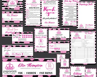 SALES!! Paparazzi Marketing Kit, Paparazzi Bundle, Paparazzi Business Cards, Paparazzi Marketing, Free Personalization, Printable file PP18
