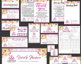 FULL Paparazzi Marketing Kit, Paparazzi Bundle, Paparazzi Business Cards, Paparazzi Marketing, Free Personalization, Printable file PP25