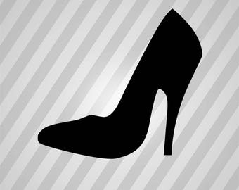 high heel shoe Silhouette - Svg Dxf Eps Silhouette Rld RDWorks Pdf Png AI Files Digital Cut Vector File Svg File Cricut Laser Cut