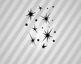 Stars Silhouette Star - Svg Dxf Eps Silhouette Rld RDWorks Pdf Png AI Files Digital Cut Vector File Svg File Cricut Laser Cut