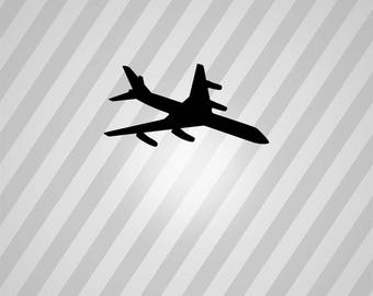 Airplane Silhouette Aeroplane - Svg Dxf Eps Silhouette Rld RDWorks Pdf Png AI Files Digital Cut Vector File Svg File Cricut Laser Cut