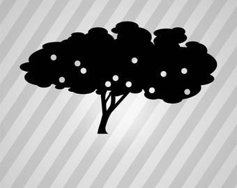 apple tree silhouette trees apple svg dxf eps silhouette rld rdworks pdf png ai files