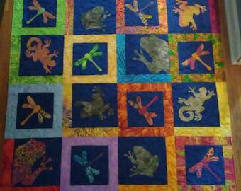 Batik Applique Quilt
