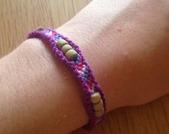Beaded Chevron bracelet 22cm