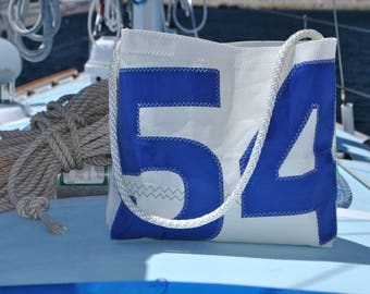 Number 54 Blue sail bag