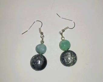 Earrings with Pearl semi precious (2)
