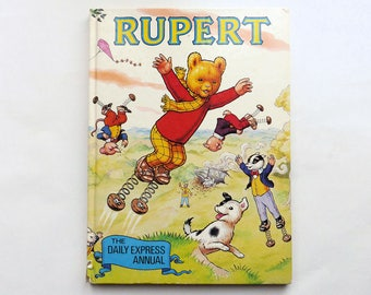 Vintage 1982 RUPERT THE BEAR Annual Book 1980's Childrens The Daily Express