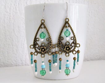 Earrings Baroque Green
