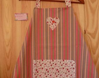 Multicolored, striped apron, pouch, one size