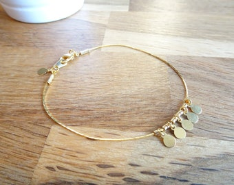 Bracelet gold filled serpentine chain