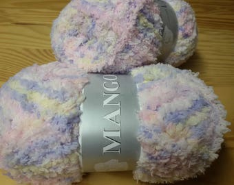 knit - wool - 5 balls of yarn nournours/color changing / made in France