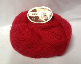 10 balls /ROUGE/ mohair wool