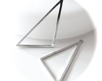 1 large graphic TRIANGLE fine silver PENDANT