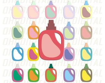 Laundry Detergent Clipart detergent sticker | etsy